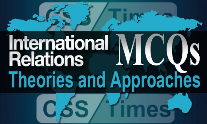 International Relations MCQs Theories and Approaches