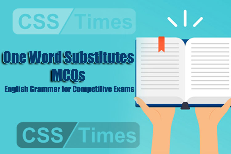 One Word Substitutes MCQs