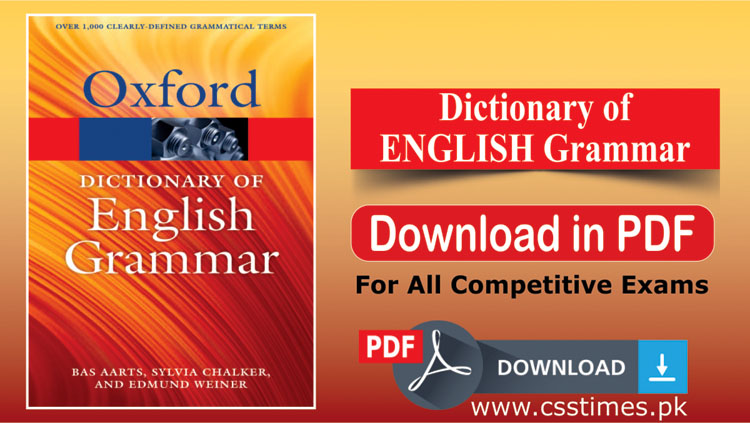 OXFORD Dictionary of English Grammar | Download Book in PDF