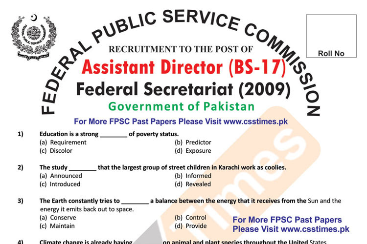 Check also: Assistant Director, BS-17 (Ministry of Defence) Paper 2012 (FPSC Past Papers)Download Assistant Director BS-17, Intelligence Bureau Paper 2017 in PDFCheck Also:NTS Paper 2012 for the posts of Deputy Director NABCheck Also:Deputy Director BS-18, Federal Investigation Agency Paper 2008 (FPSC Past Papers)Check Also:Inspector Customs & Preventive Officer (FBR) BS-16 Paper 2015Check Also:Assistant Director Anti Narcotics Force (ANF), BS-17 Paper 2010Check Also:Assistant Security Officer/Deputy Assistant Director (ASF) BS-16 Paper 2014
