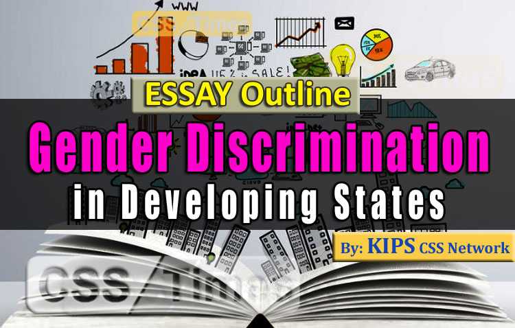 Gender Descrimination in Developing States