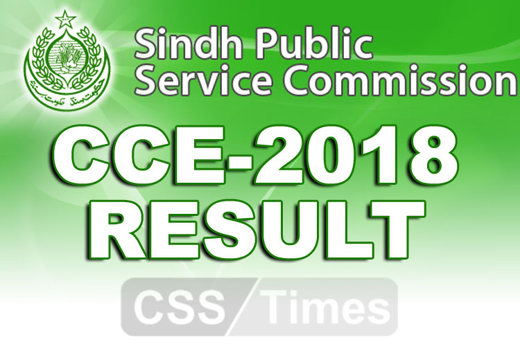 Sindh Public Service Commission Result CE 2018
