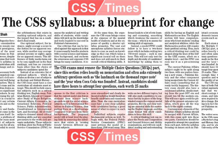The CSS Syllabus