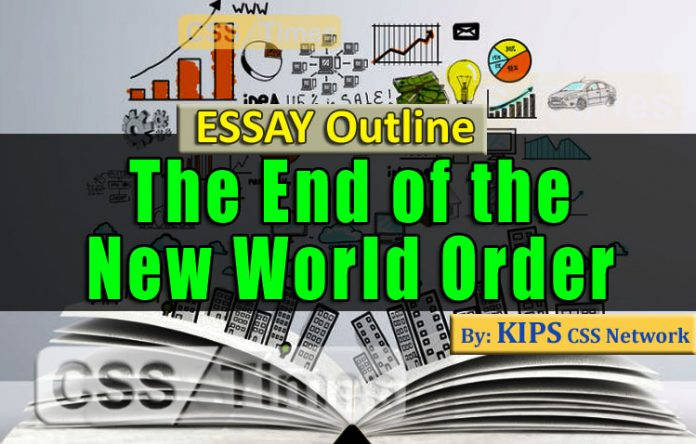 The End of the New World Order