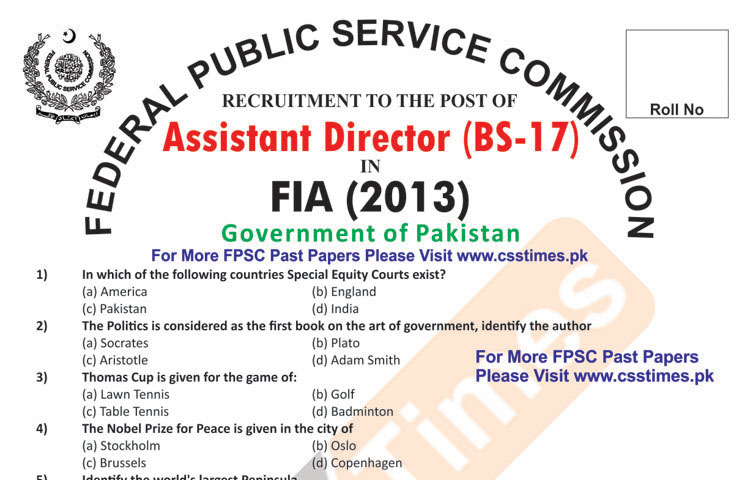 Fia Past Papers