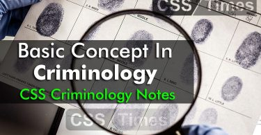 Basic Concepts in Criminology, CSS Criminlogy Notes