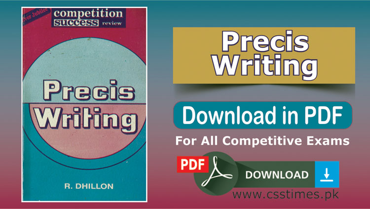 Download Precis Writing book by R. Dhillon