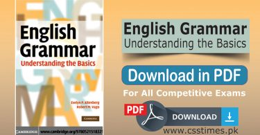 English Grammar understanding the basics book PDF