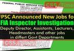 FIA Inspector Investigation Jobs