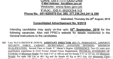 To view consolidated advertisement, Click here To apply online, Click here