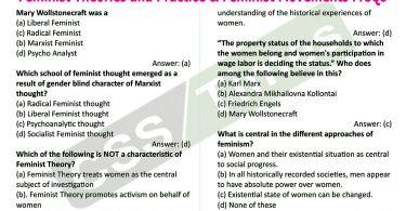 Gender Studies MCQS