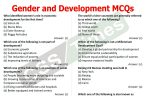 Gender Studies MCQS Gender and Development MCQs