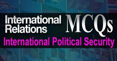 International Relations MCQs