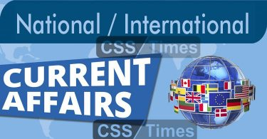 National and International Current Affairs