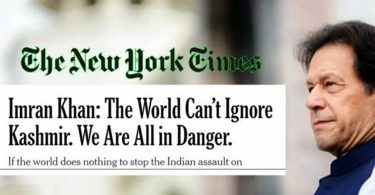 PM Imran Khan's Article on Kashmir in New York Times [Complete Text]
