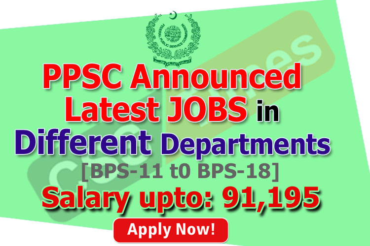 PPSC Announced Latest Jobs in Different Department (PPSC