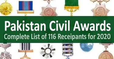 Pakistan Civil Awards Lists