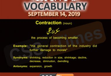 Daily Dawn Vocabulary with Urdu Meaning 14 September 2019