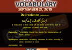 Daily Dawn Vocabulary with Urdu Meaning 21 September 2019
