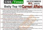Day by Day Current Affairs (September 05, 2019) MCQs for CSS, PMS.JPG