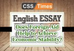 Does Foreign Aid Help to Achieve Economic Stability