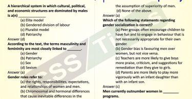 Gender Studies MCQs   Gender Inequality MCQs