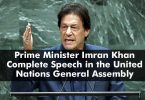 Prime Minister Imran Khan Complete Speech in the United Nations General Assembly 2019