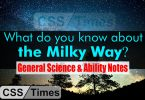 What do you know about the Milky Way