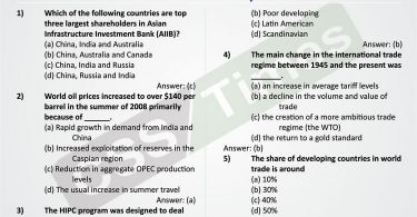 International Relations MCQs | International Political Economy