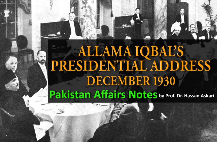 ALLAMA IQBAL's Presidential Address December 1930