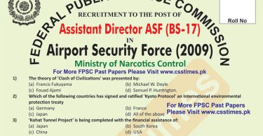 Assistant Director (BS-16) ASF 2009