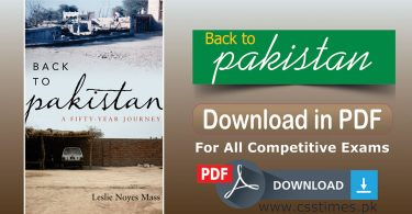 Back to Pakistan, A Fifty-year Journey | Download Complete Book in PDF