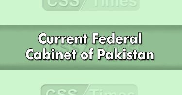 Current Federal Cabinet of Pakistan