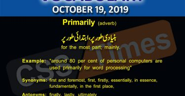 Daily Dawn Vocabulary with Urdu Meaning 19 October 2019