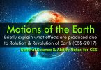 Motions of the Earth | General Science & Ability Notes