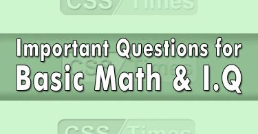 Important Questions for Basic Math & I.Q | General Knowledge MCQs