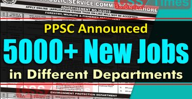 PPSC Announced 500+ New Jobs