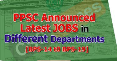 PPSC Latest Advertisement
