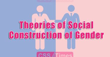 Theories of Social Construction of Gender