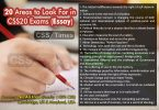 20 Areas to look for in CSS 2020 Essay Exams (Essay)