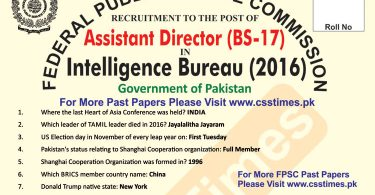 ASSISTANT DIRECTOR INTELLIGENCE BUREAU Paper 2016 (page -1) copy