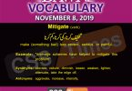 Daily English Vocabulary with Urdu Meaning (08 November 2019)