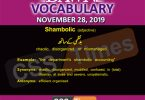 Daily English Vocabulary with Urdu Meaning (28 November 2019)