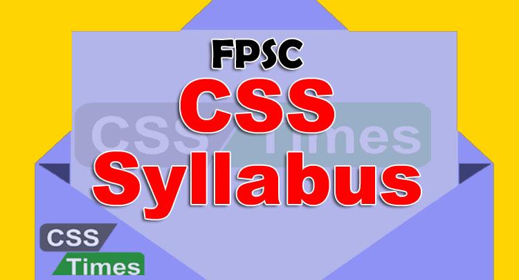 FPSC CSS Syllabus