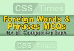 Foreign Words & Phrases MCQs