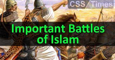 Important Battles of Islam
