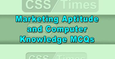 Marketing Aptitude and Computer Knowledge MCQs (Solved)