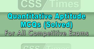Quantitative Aptitude MCQs (Solved)