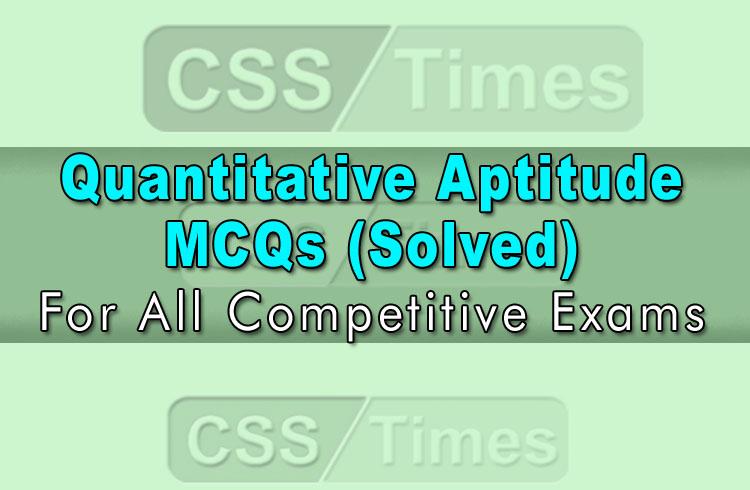Quantitative Aptitude MCQs (Solved)