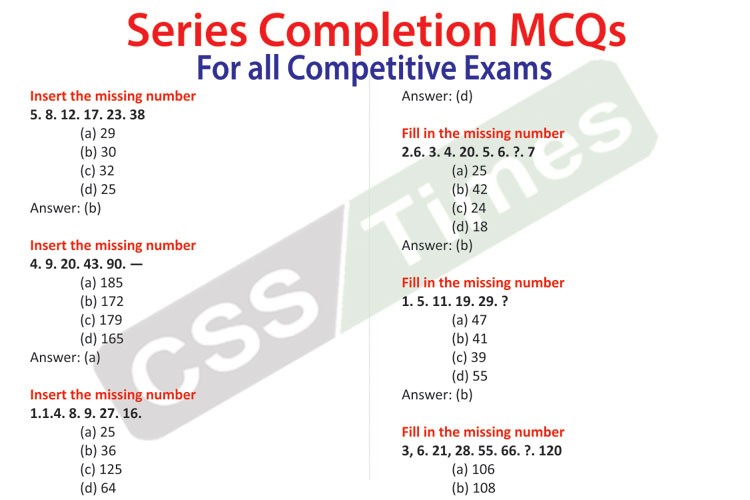 Series Completion for math copy